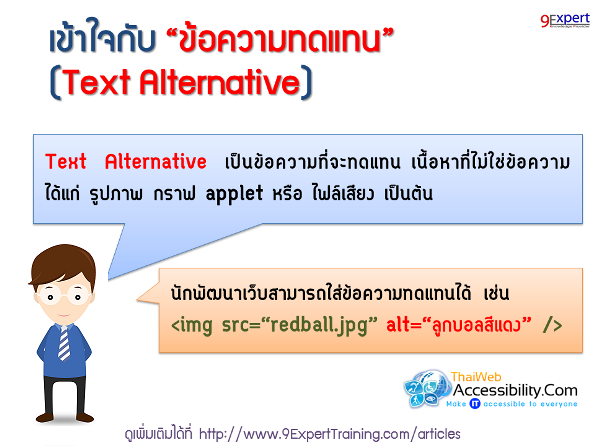 เข้าใจกับข้อความทดแทน หรือ Text Alternative