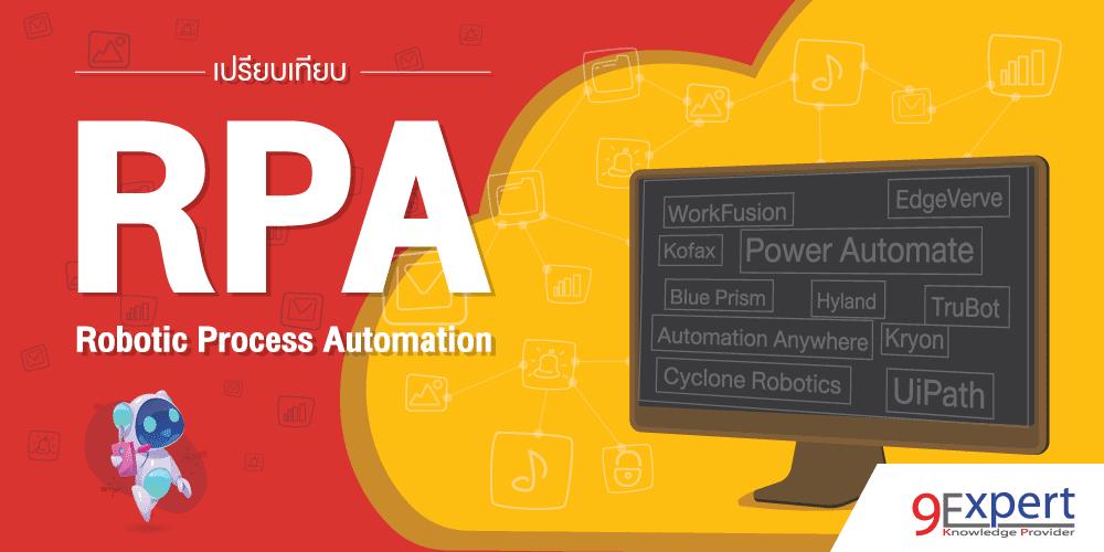 เปรียบเทียบ Robotic Process Automation (RPA)