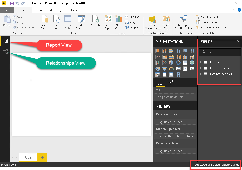 Data Model ภายใน Power BI Desktop