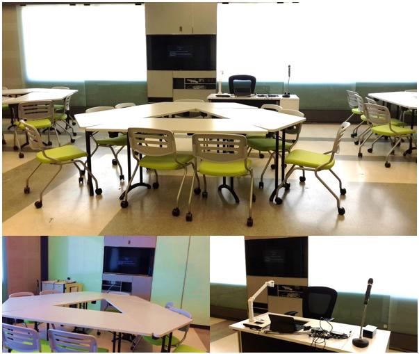 รูปที่ 1 ห้อง i-SCALE ของคณะวิศวกรรมศาสตร์ จุฬาลงกรณ์มหาวิทยาลัย