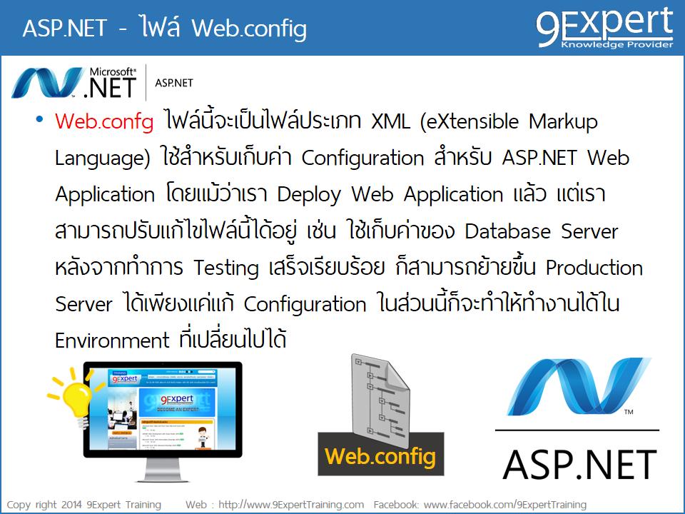 ไฟล์ web.config ของ ASP.NET