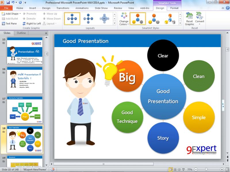 หลักสูตร Microsoft Powerpoint 2016 Advanced 9expert Training