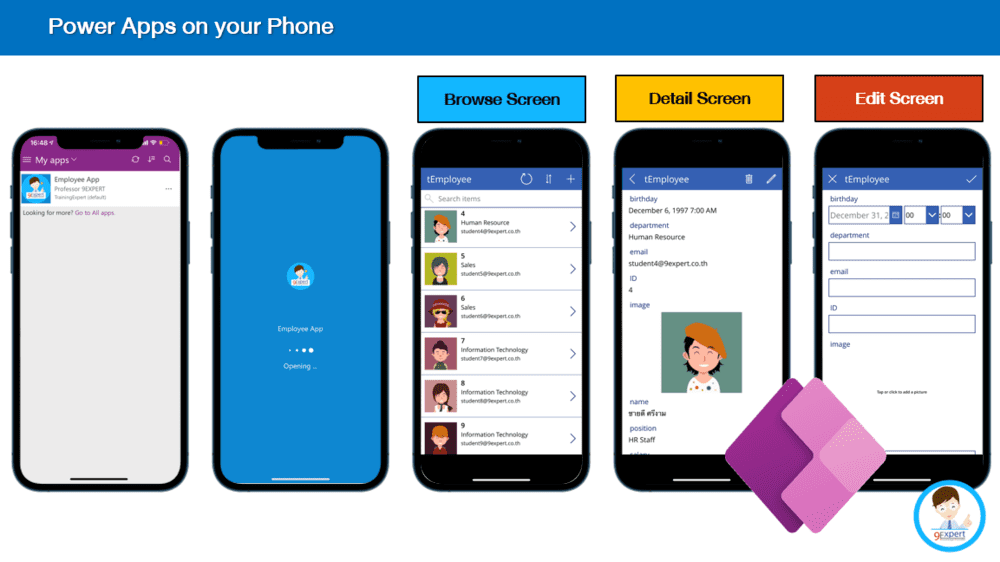 Microsoft Power Apps เพื่อการสร้าง App ทั้ง Mobile Tablet และ Website เป็นส่วนหนึ่งของ Microsoft Power Platform