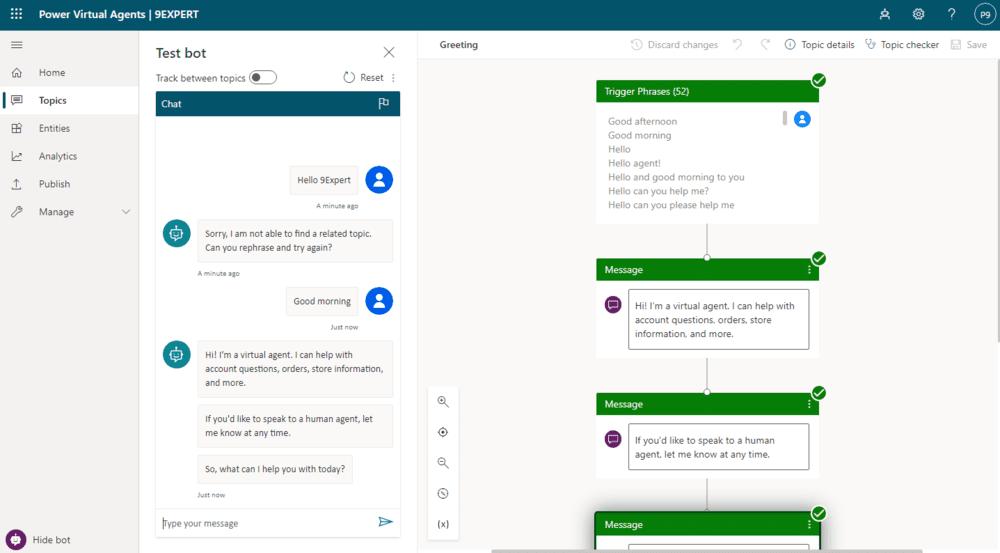 Microsoft Power Virtual Agents เพื่อการสร้าง Chatbot