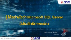 รู้ได้อย่างไรว่า Microsoft SQL Server มีประสิทธิภาพแย่ลง