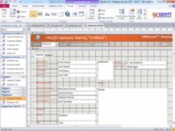 การออกแบบ Form และ Report