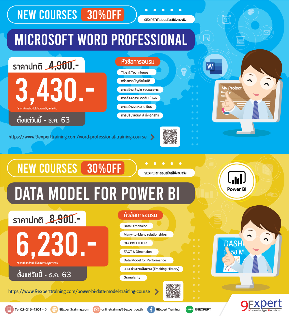 promotion power bi data model and word professional