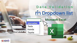 การทำ Drop down list ใน Microsoft Excel
