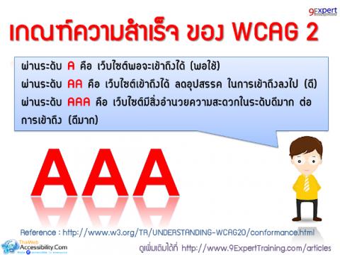 เกณฑ์ความสำเร็จของ WCAG 2.0