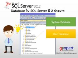 Database ใน SQL Server มี 2 ประเภท