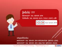 Microsoft SQL Server 2014 ไม่ได้ติดตั้ง SQL Server Data Tools (SSDT) มาให้