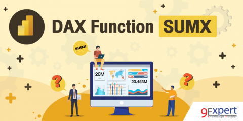 ภาพหน้าปกบทความ DAX Function SUMX พร้อมตัวอย่างการใช้งาน