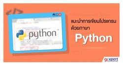 แนะนำการเขียนโปรแกรมด้วยภาษา Python