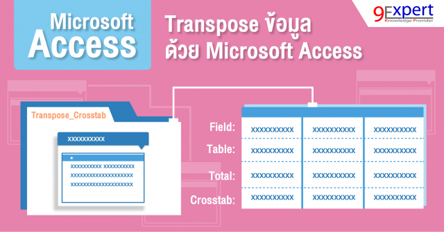 Transpose ข้อมูล ด้วย Microsoft Access picture